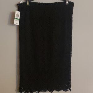 Bar III Pencil stretch Skirt New Black Lace